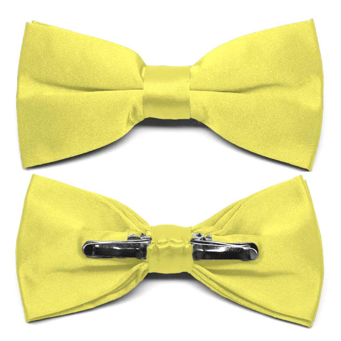 Daffodil Yellow Clip-On Bow Tie