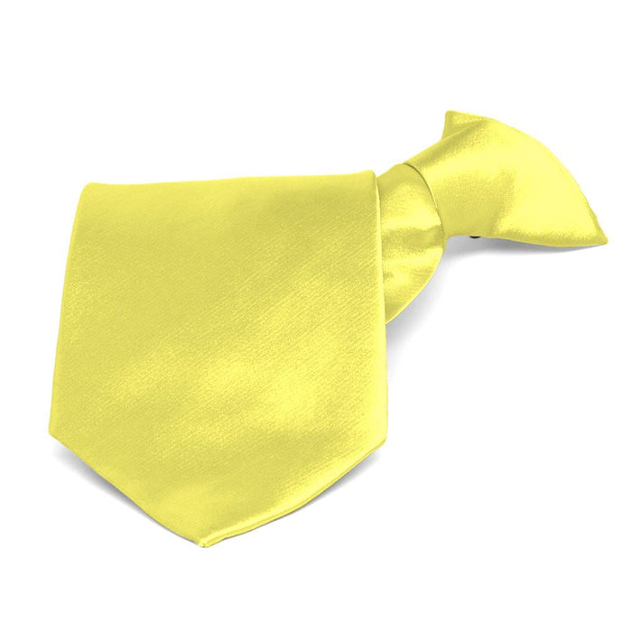 Daffodil Yellow Solid Color Clip-On Tie