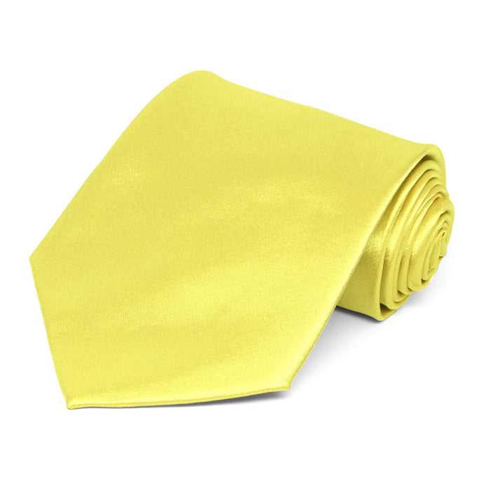 Daffodil Yellow Extra Long Solid Color Necktie