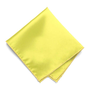 Daffodil Yellow Solid Color Pocket Square