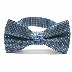 Dark Blue Henry Grain Pattern Band Collar Bow Tie