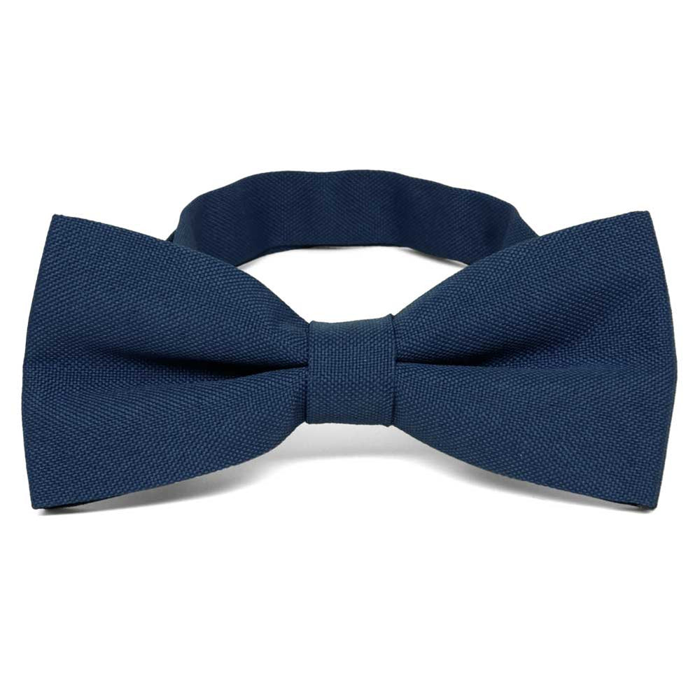 Dark Blue Matte Finish Bow Tie