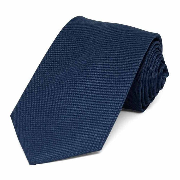 Dark Blue Matte Finish Necktie, 3