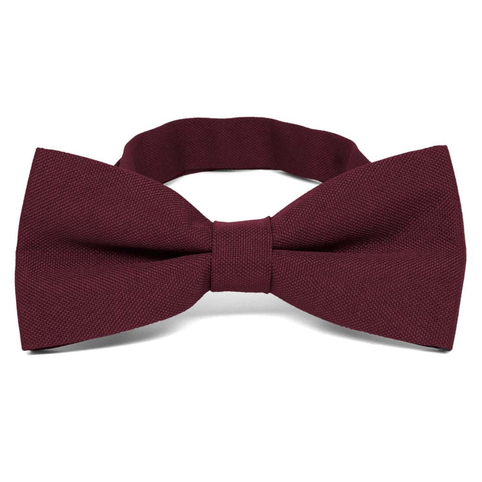 Dark Burgundy Matte Finish Bow Tie