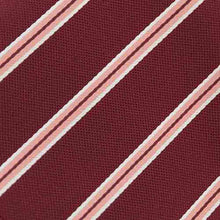 Load image into Gallery viewer, Boys' Burgundy Melvin Stripe Clip-On Tie
