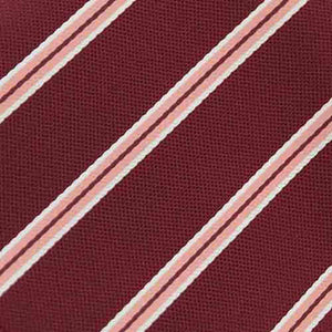 Boys' Burgundy Melvin Stripe Clip-On Tie