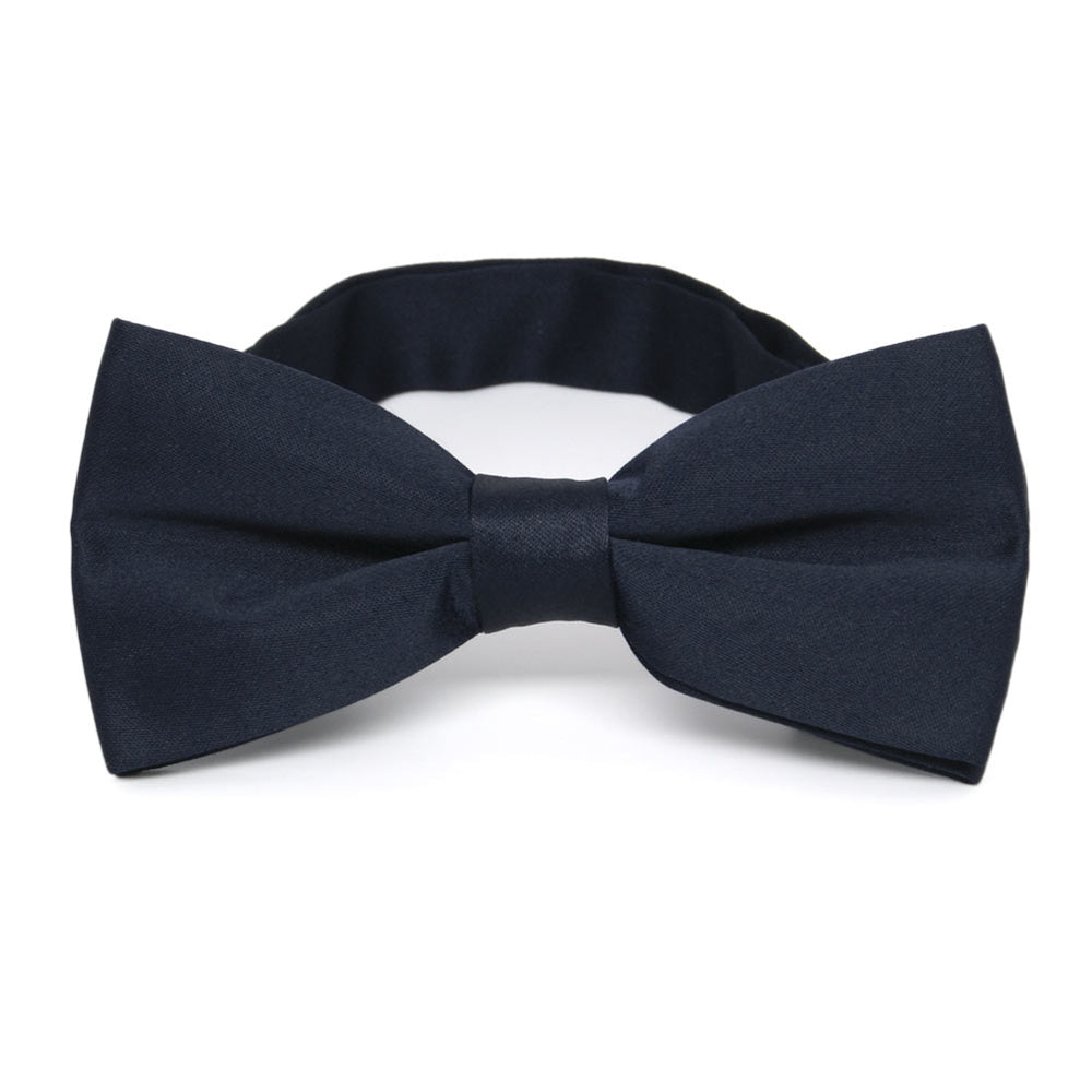 Dark Navy Blue Band Collar Bow Tie