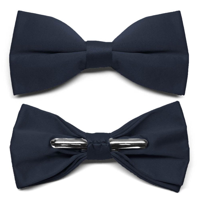 Dark Navy Blue Clip-On Bow Tie