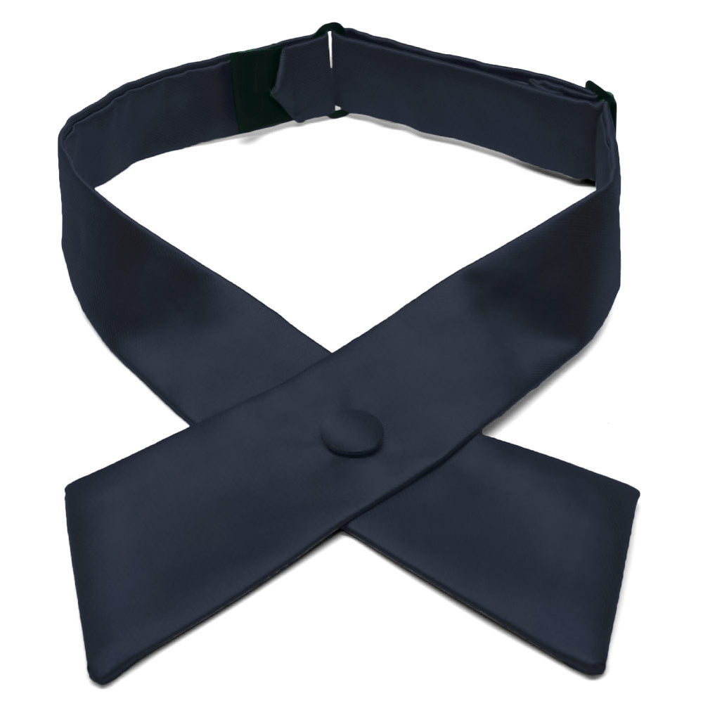 Dark Navy Blue Crossover Tie