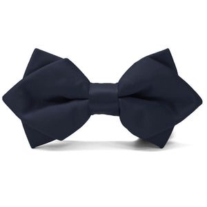 Dark Navy Blue Diamond Tip Bow Tie