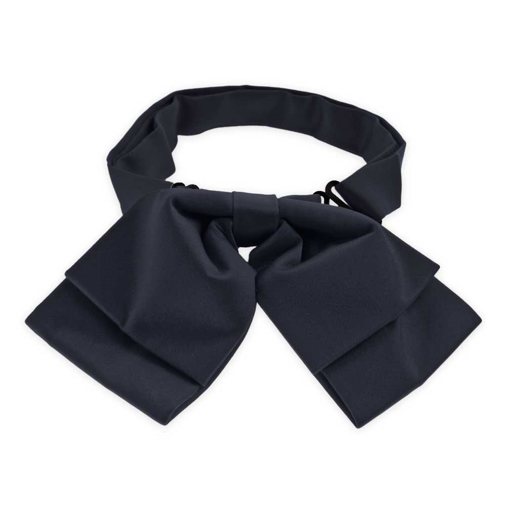 Dark Navy Blue Floppy Bow Tie