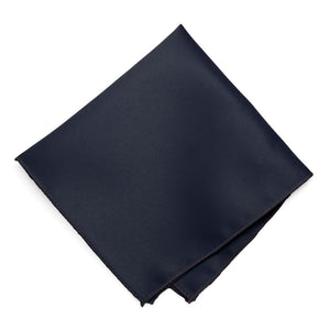 Dark Navy Blue Solid Color Pocket Square