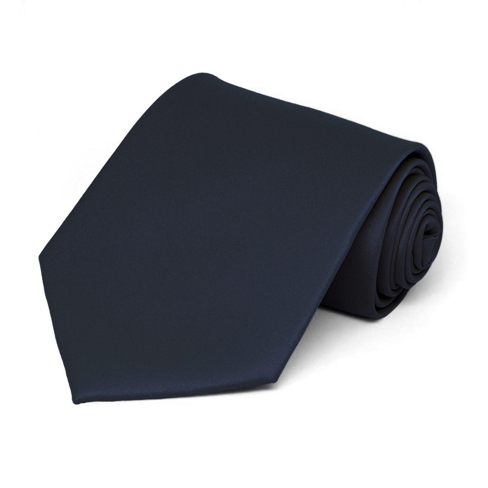 Dark Navy Blue Staff Tie