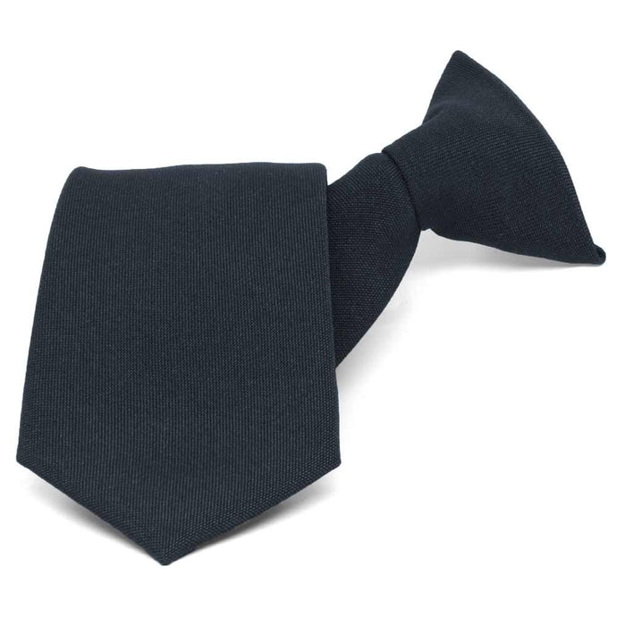 Dark Navy Clip-On Uniform Tie