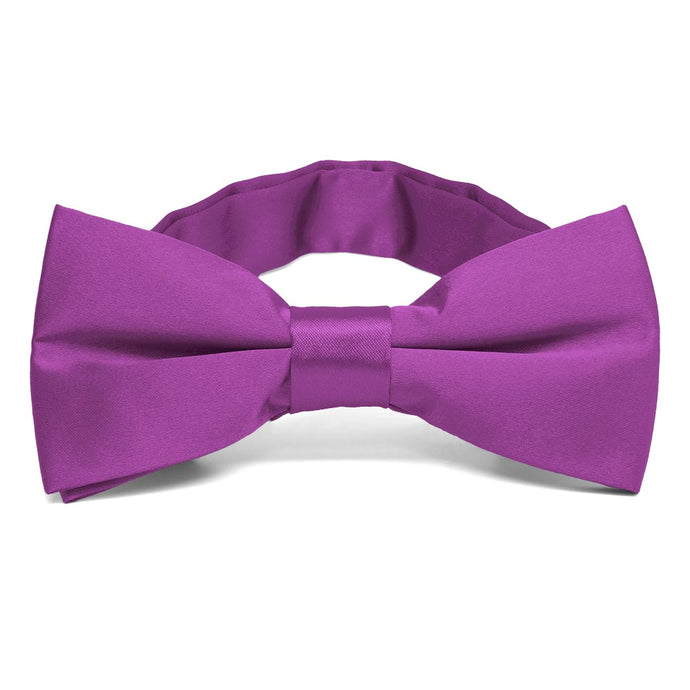 Dark Orchid Band Collar Bow Tie