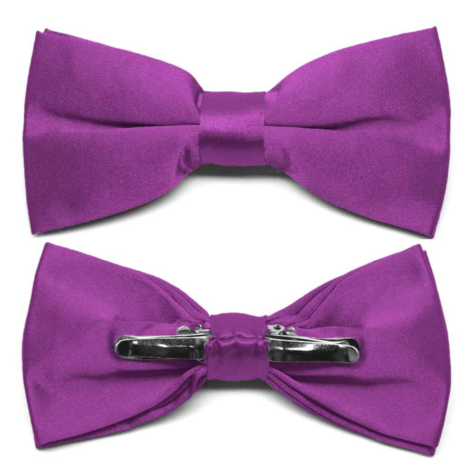 Dark Orchid Clip-On Bow Tie