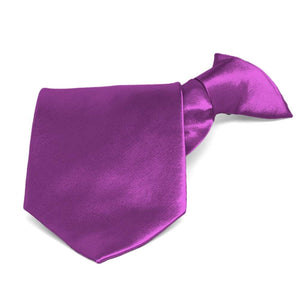 Dark Orchid Solid Color Clip-On Tie