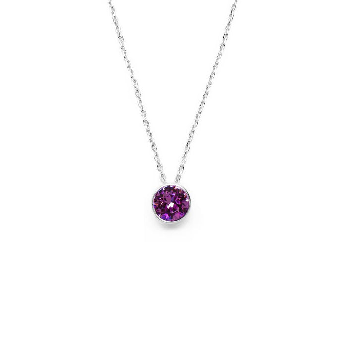 Dark Orchid Round Crystal Necklace