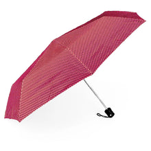 Load image into Gallery viewer, Pink and black polka dot umbrella