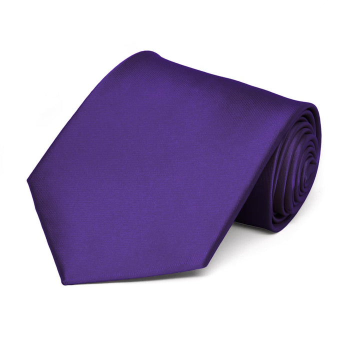 Dark Purple Extra Long Solid Color Necktie