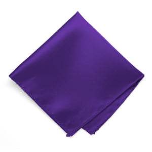 Dark Purple Solid Color Pocket Square