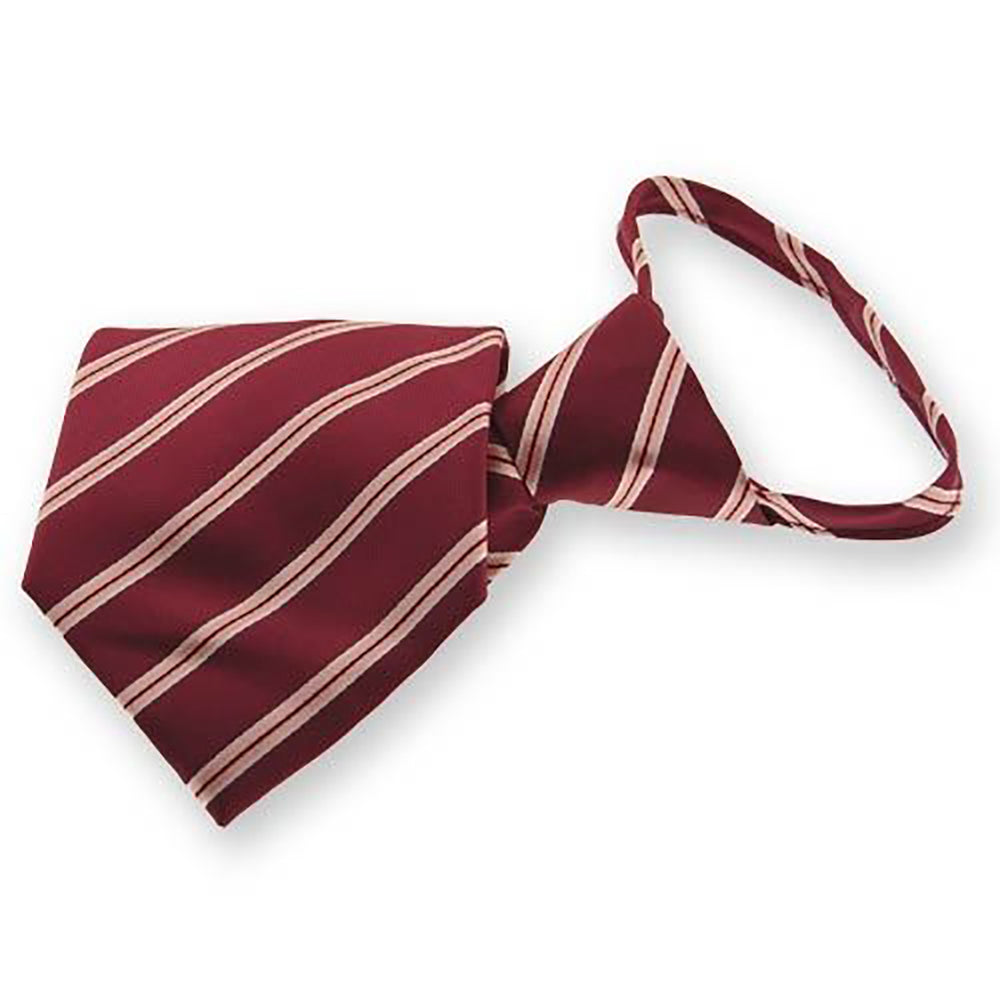 Burgundy Melvin Stripe Zipper Tie
