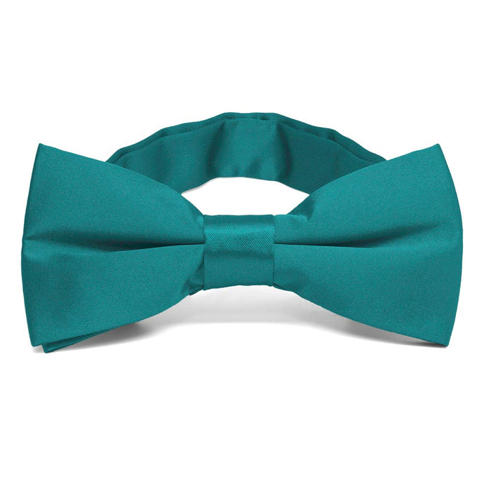 Deep Aqua Band Collar Bow Tie