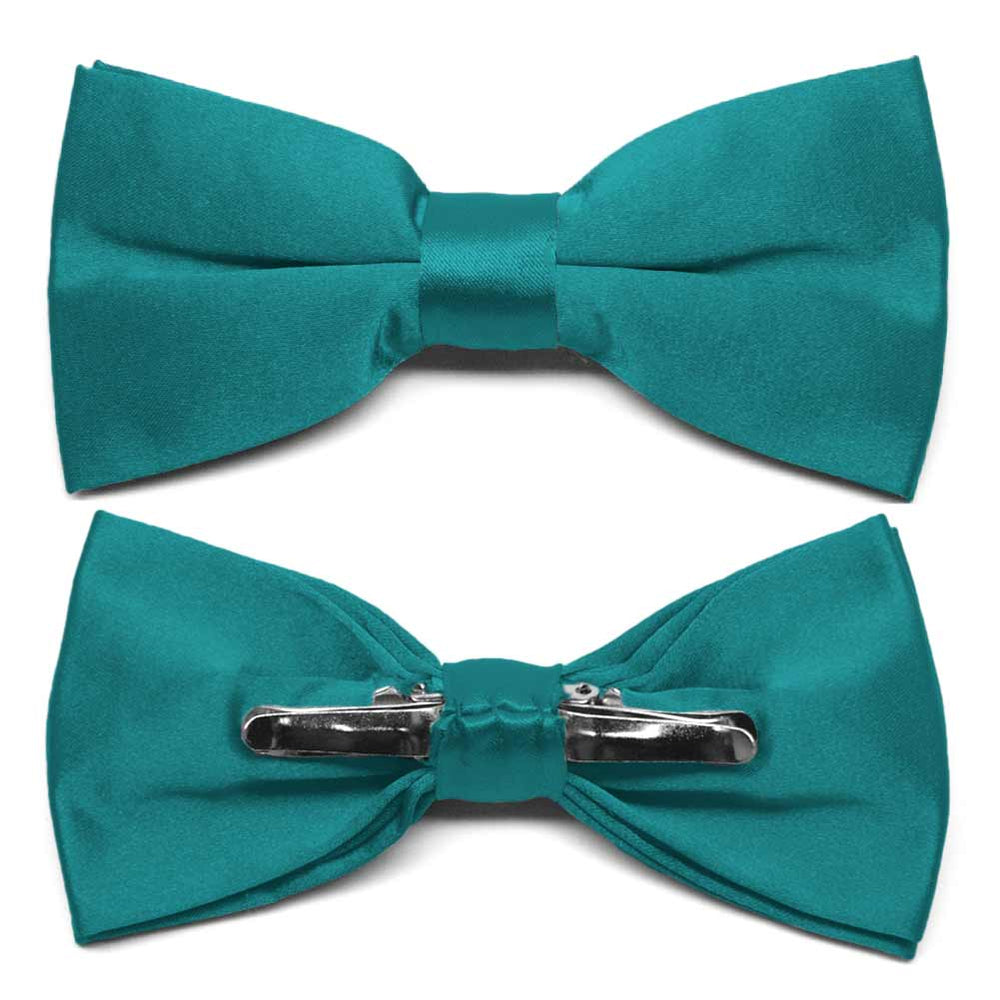 Deep Aqua Clip-On Bow Tie