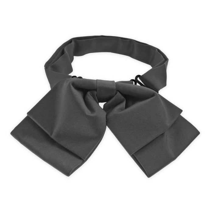 Deep Gray Floppy Bow Tie