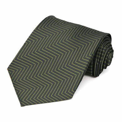 Dried Sage Kimberly Chevron Stripe Necktie