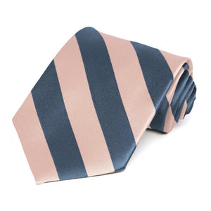 Dusty Blue and Petal Striped Tie