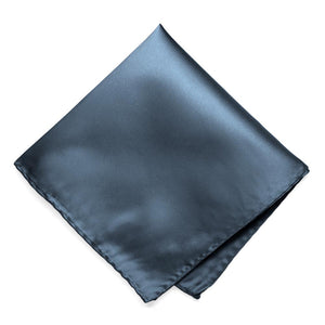 Dusty blue pocket square, solid color