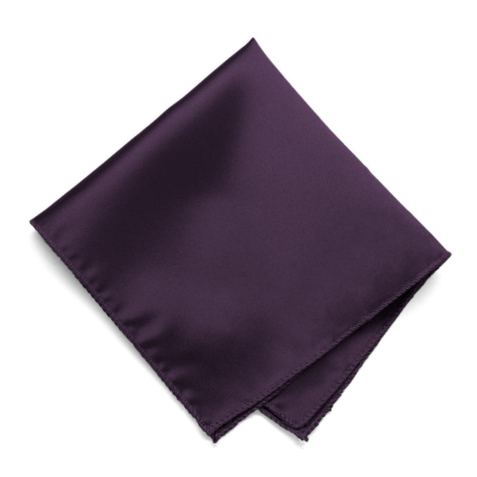 Eggplant Purple Solid Color Pocket Square