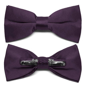 Eggplant Purple Clip-On Bow Tie