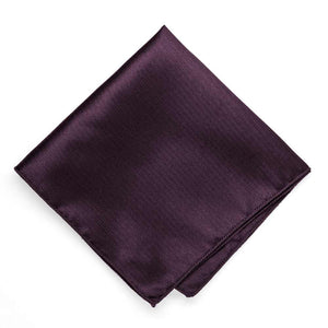 Eggplant Purple Herringbone Silk Pocket Square
