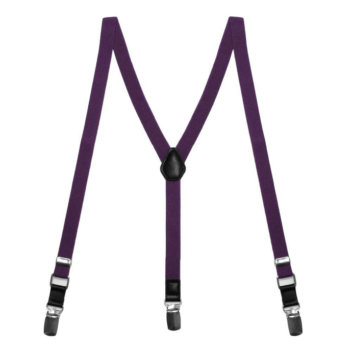 Eggplant Purple Skinny Suspenders