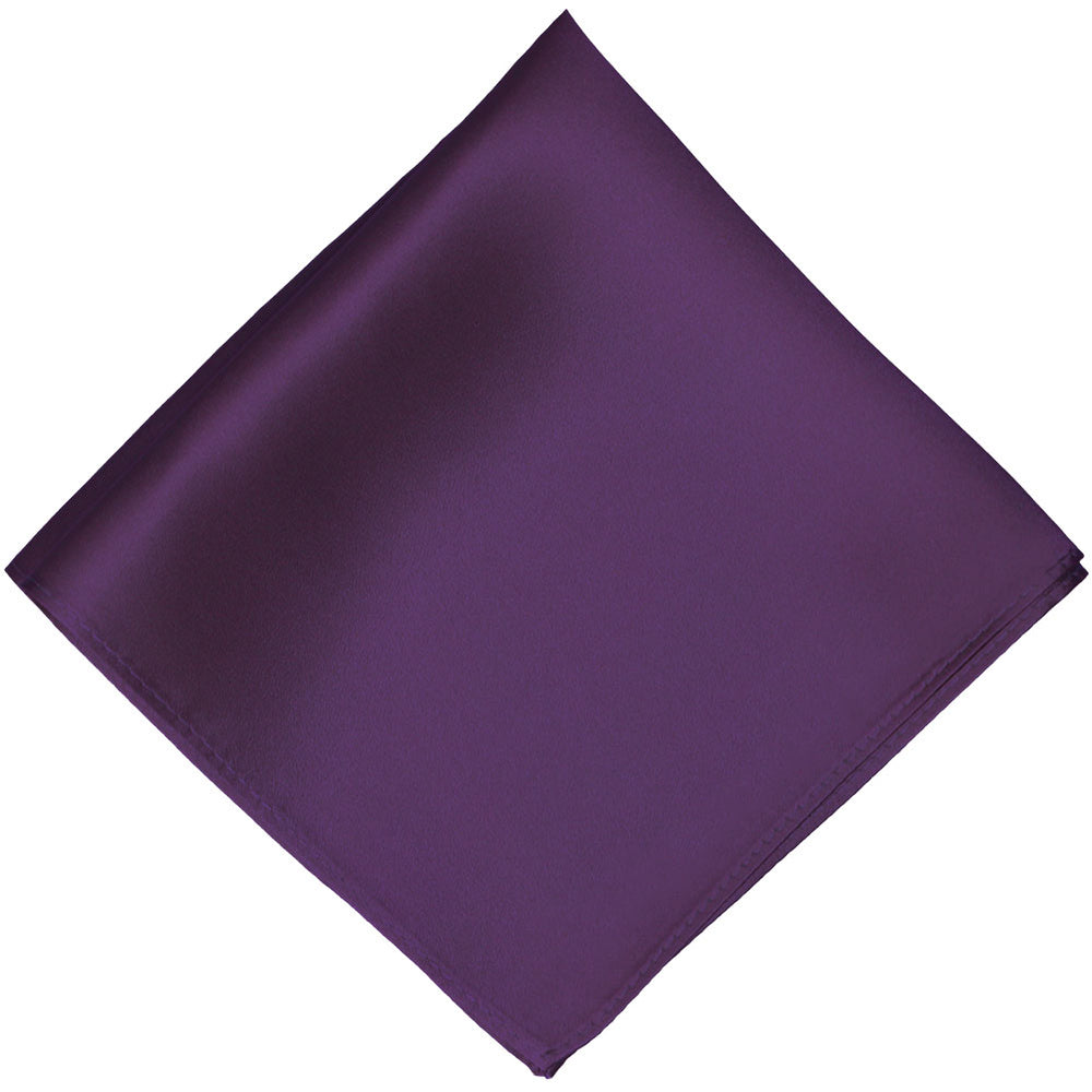 Eggplant Purple Silk Pocket Square