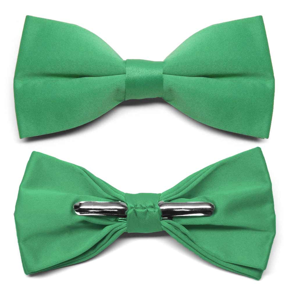 Emerald Green Clip-On Bow Tie