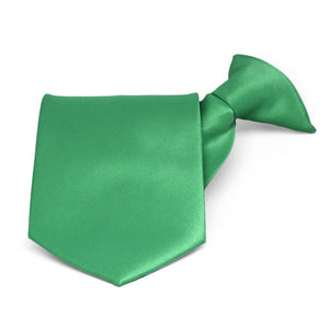 Emerald Green Solid Color Clip-On Tie
