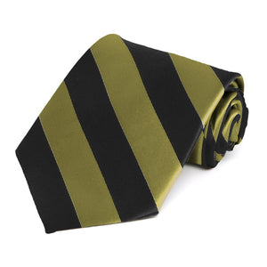 Fern and Black Striped Tie
