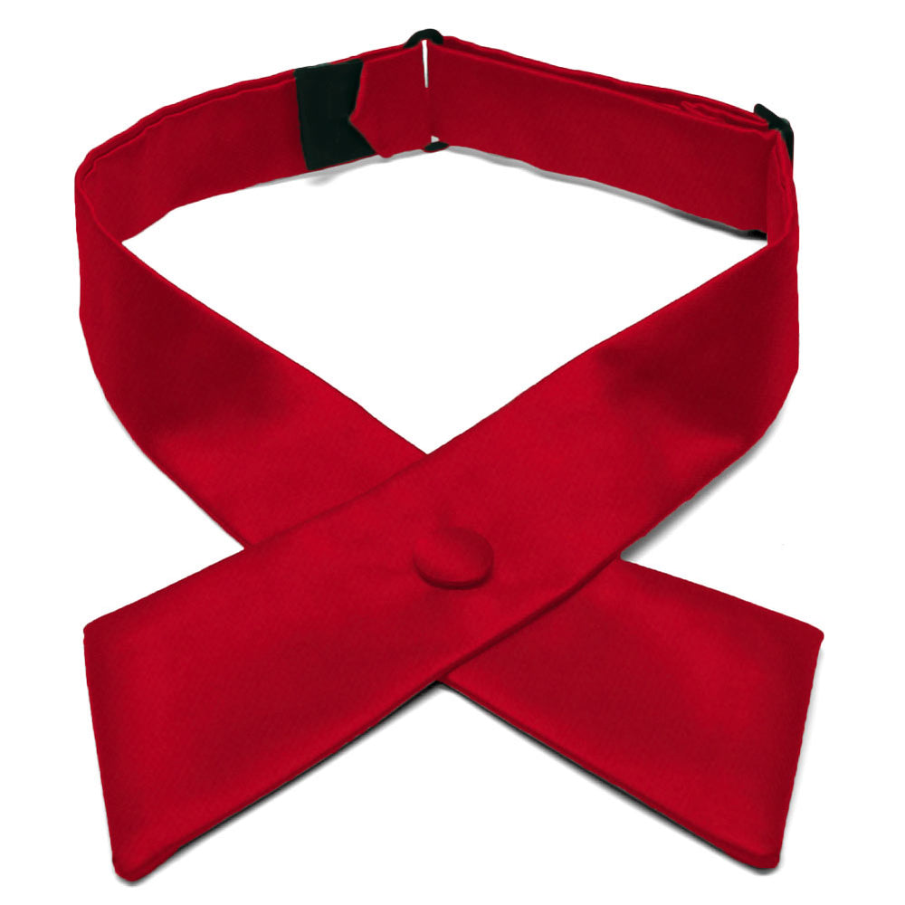 Festive Red Crossover Tie