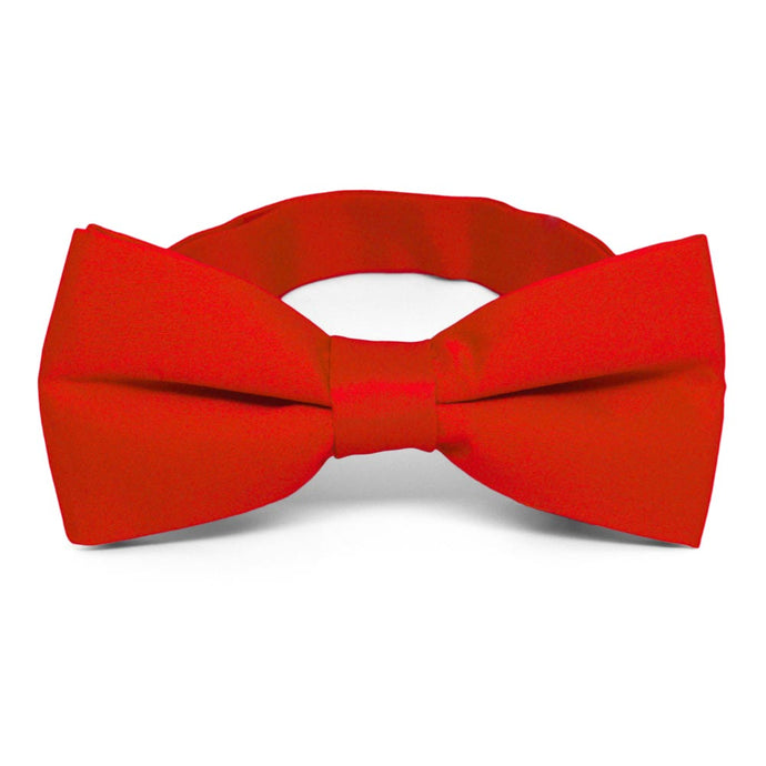Fire Engine Red Band Collar Bow Tie