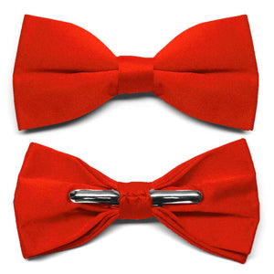 Fire Engine Red Clip-On Bow Tie