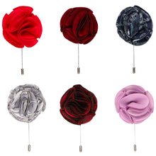 Load image into Gallery viewer, 6-pack flower lapel pins