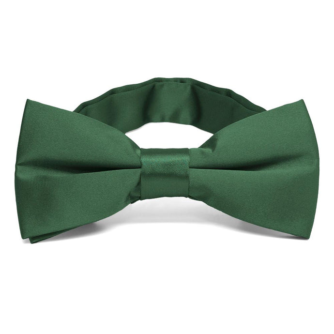 Forest Green Band Collar Bow Tie