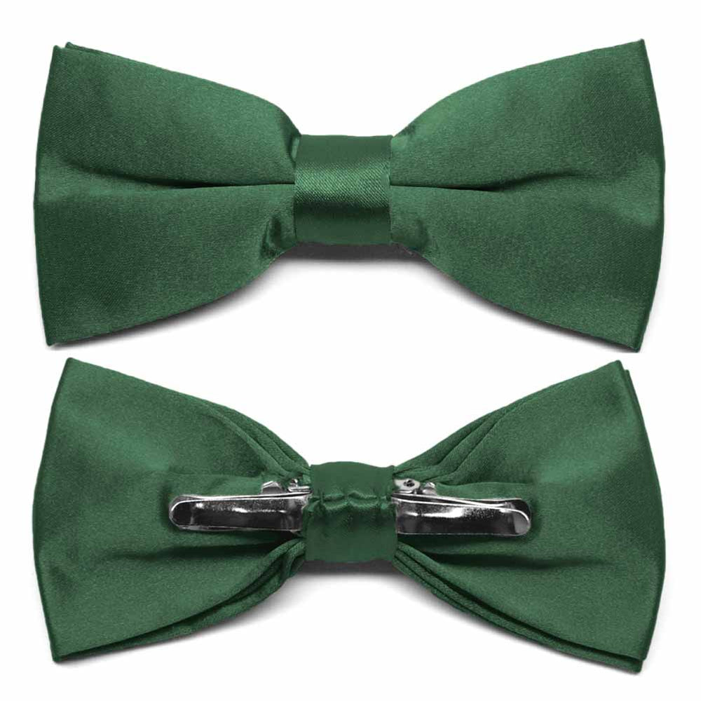 Forest Green Clip-On Bow Tie