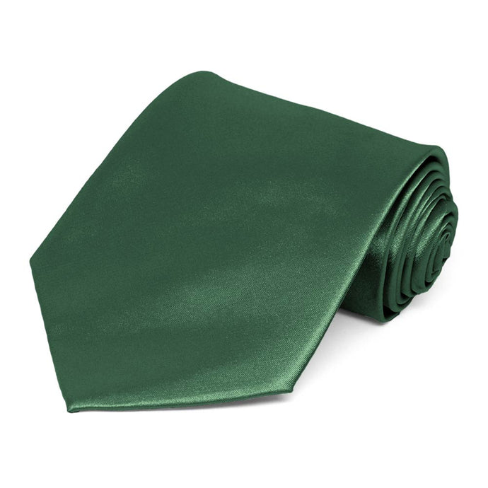 Forest Green Solid Color Necktie