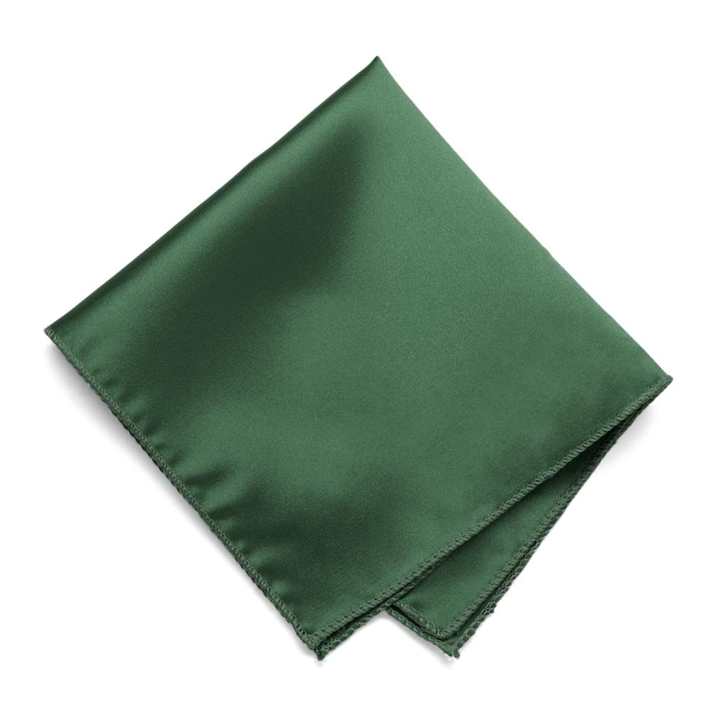 Forest Green Solid Color Pocket Square
