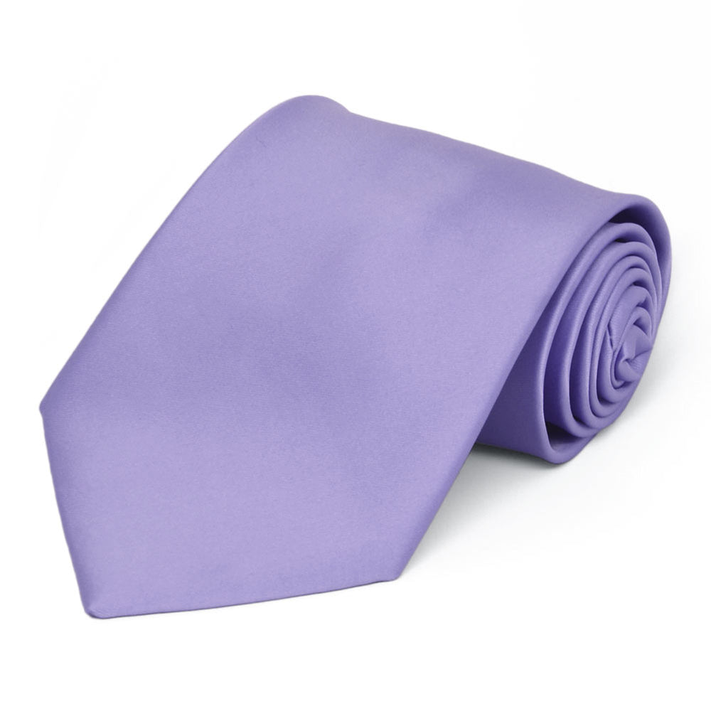 Freesia Premium Extra Long Solid Color Necktie