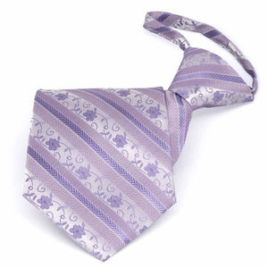 Freesia Anna Floral Stripe Zipper Tie
